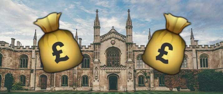 sacs d'argent de l'université de cambridge