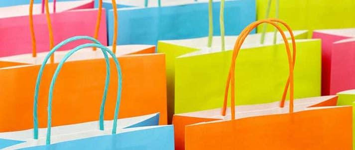 sacs à provisions colorés