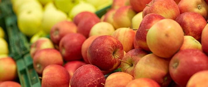 tas de pommes