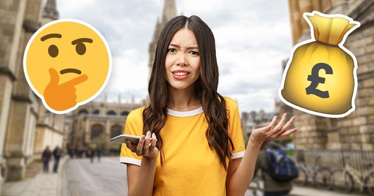 Femme à Oxford confuse