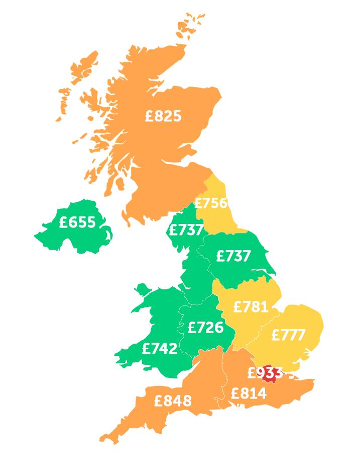 infographie sur les dépenses régionales des étudiants